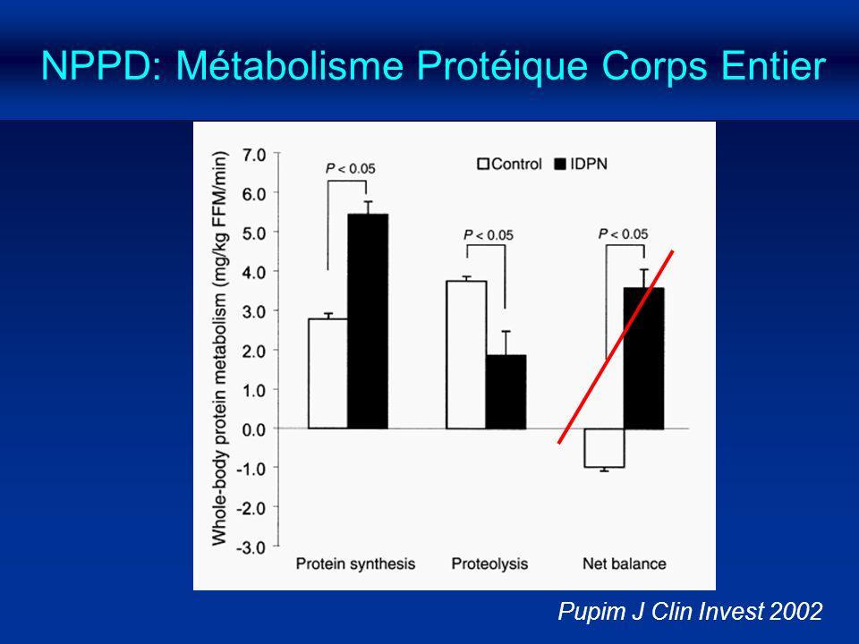 NPPD: Métabolisme Protéique Corps Entier