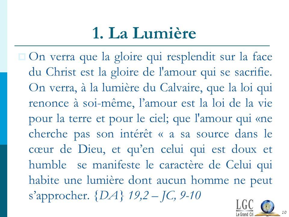 1. La Lumière