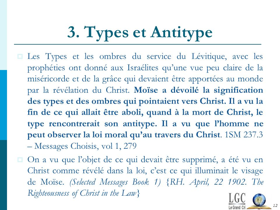 3. Types et Antitype