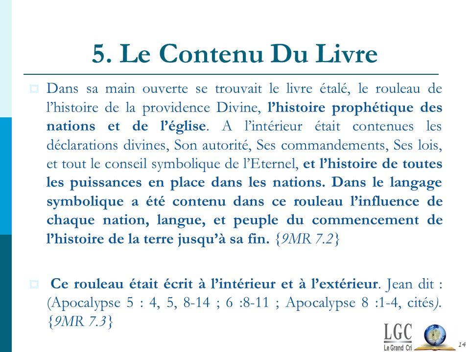 5. Le Contenu Du Livre