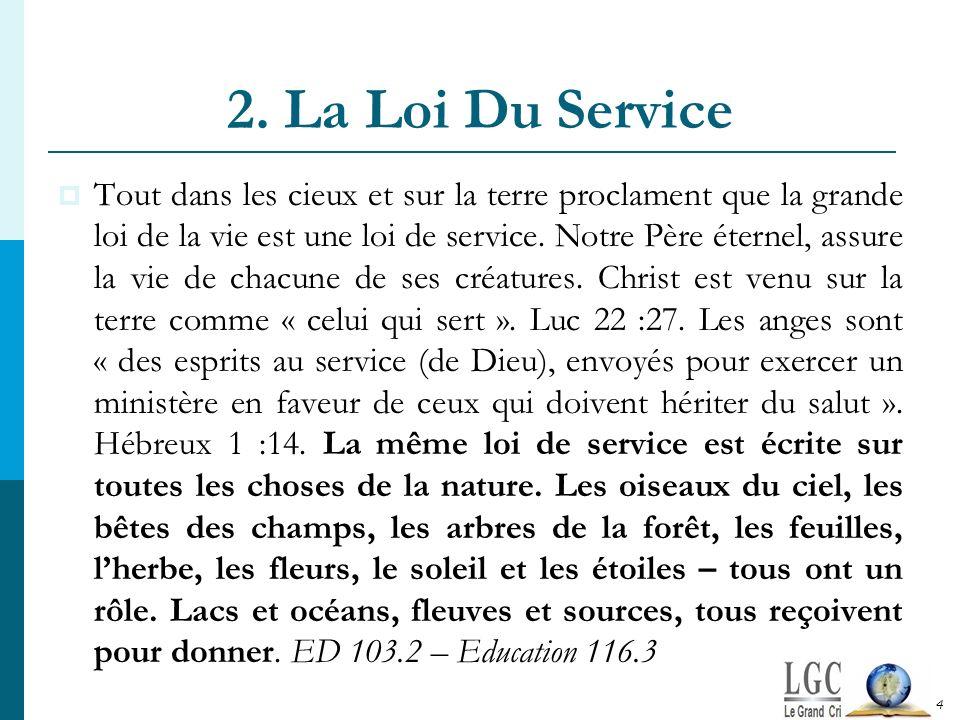 2. La Loi Du Service