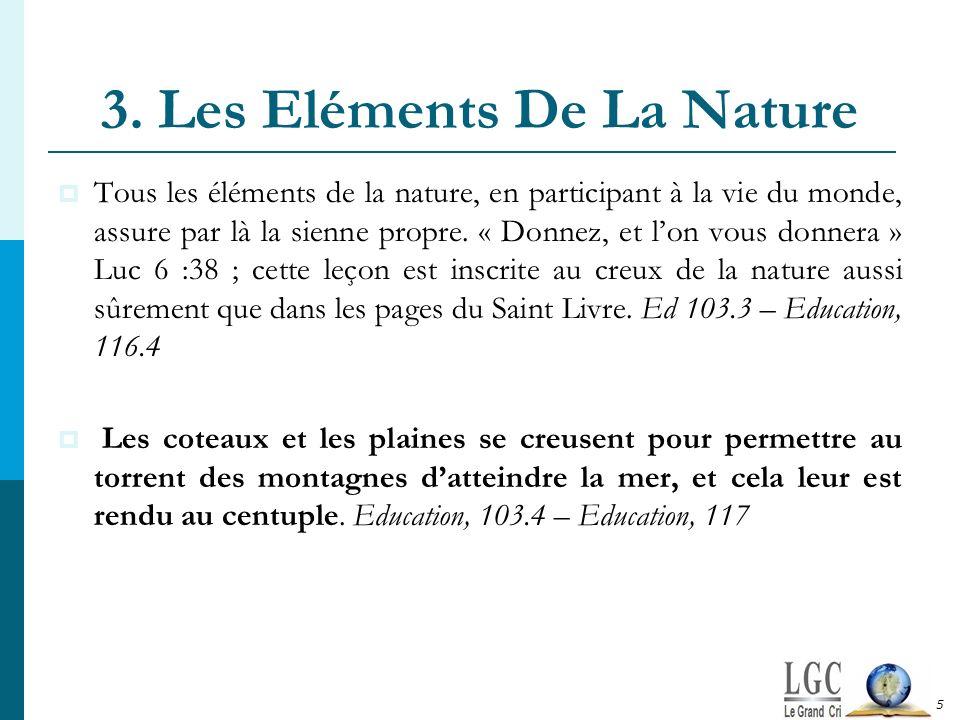 3. Les Eléments De La Nature