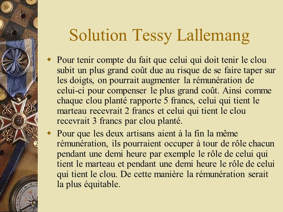 Solution Tessy Lallemang