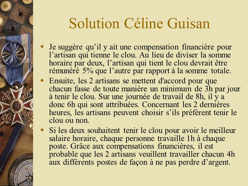 Solution Céline Guisan