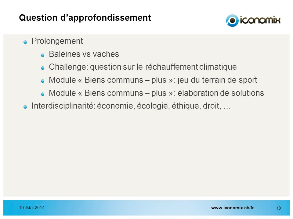 Question d'approfondissement