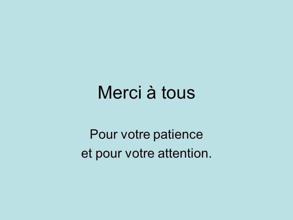 Pour votre patience et pour votre attention.