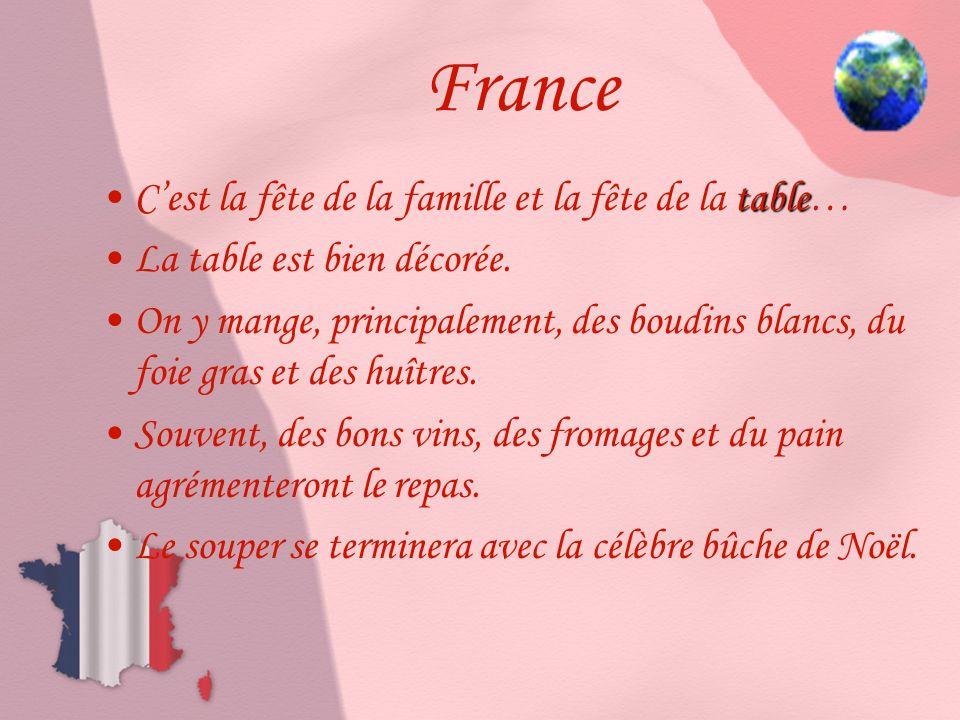 France C'est la fête de la famille et la fête de la table…