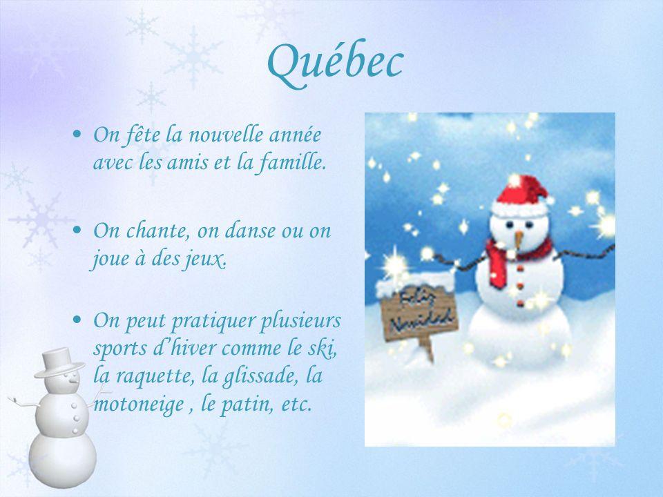 Québec On fête la nouvelle année avec les amis et la famille.