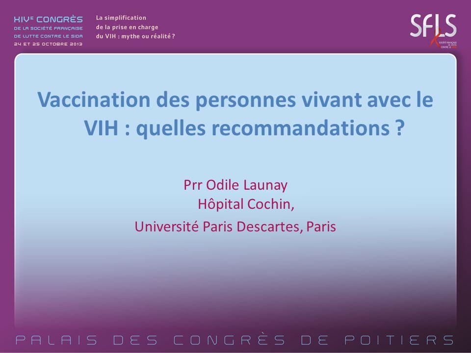 Vaccination des personnes vivant avec le VIH : quelles recommandations