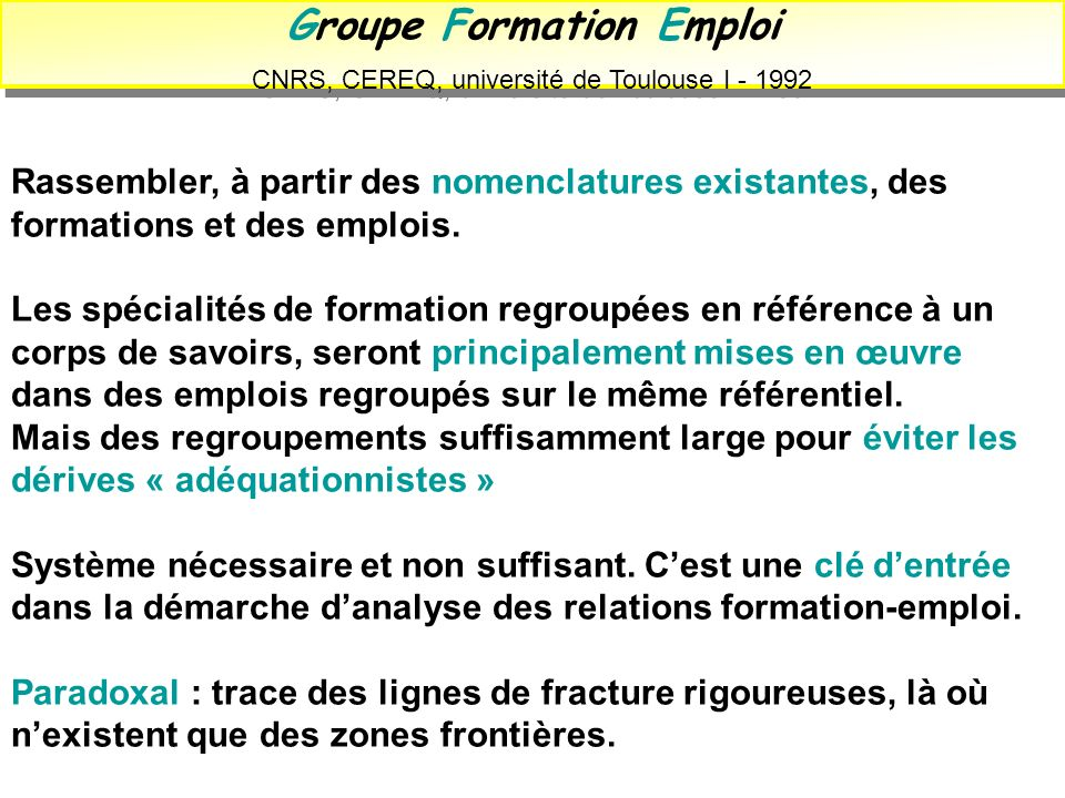 Groupe Formation Emploi