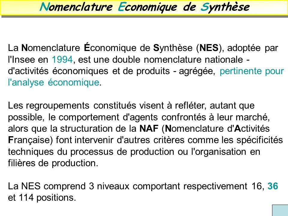 Nomenclature Economique de Synthèse