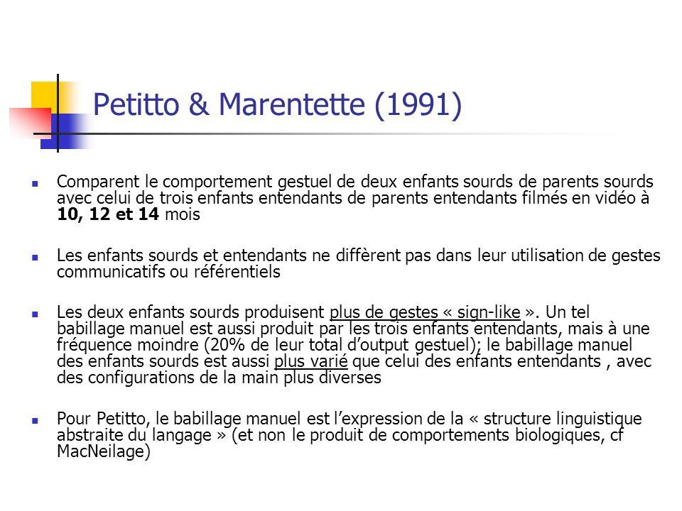 Petitto & Marentette (1991)
