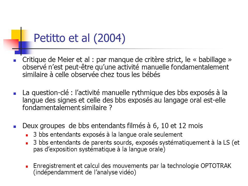 Petitto et al (2004)