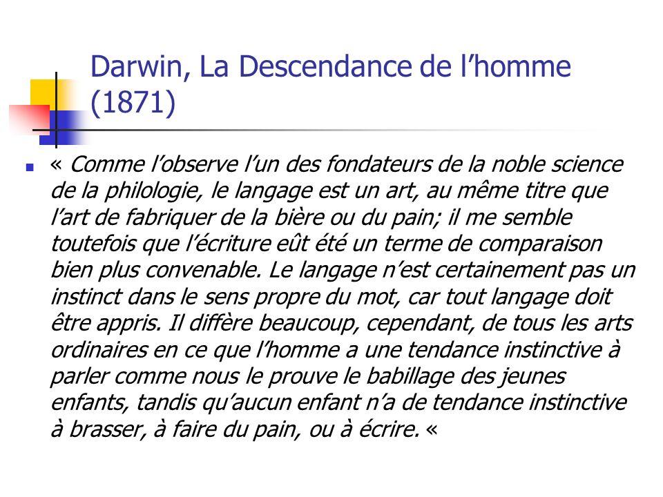 Darwin, La Descendance de l'homme (1871)