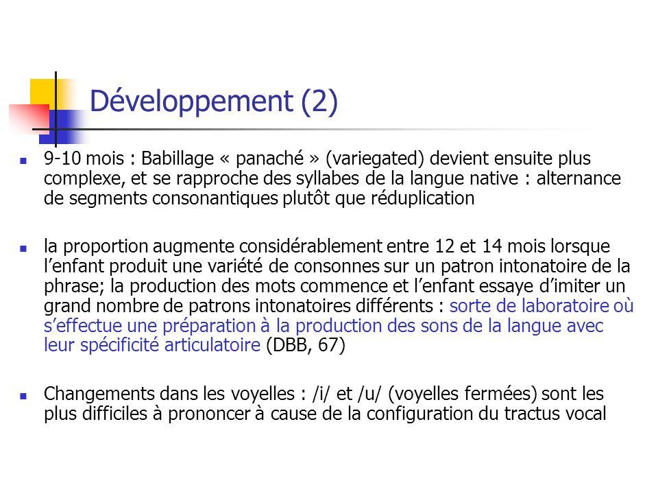 Développement (2)