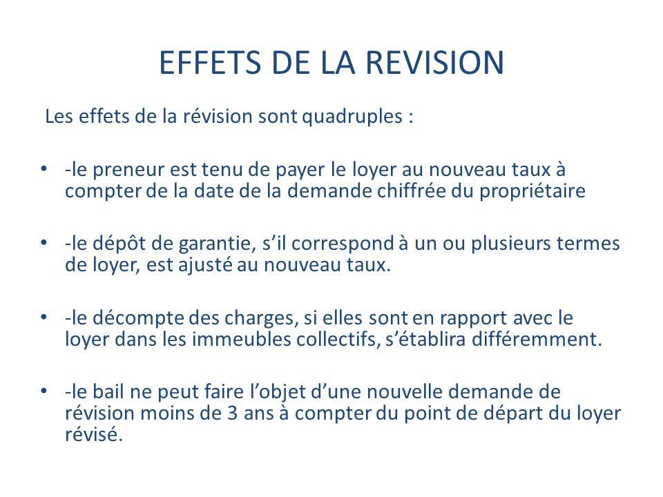 EFFETS DE LA REVISION Les effets de la révision sont quadruples :