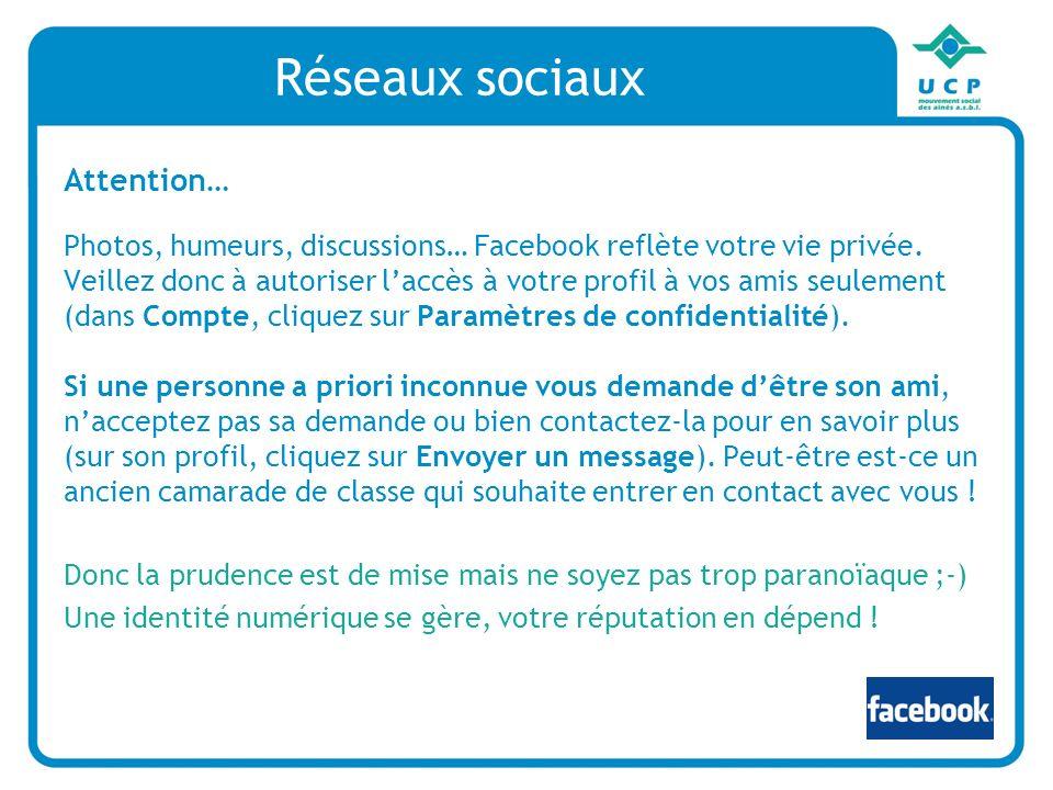 Réseaux sociaux Attention…