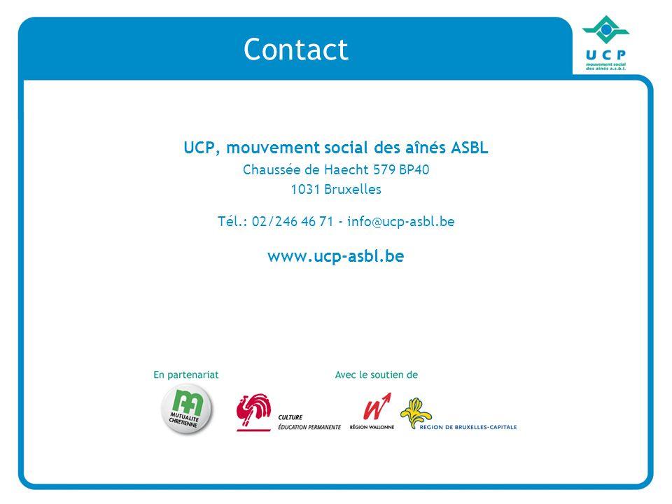 UCP, mouvement social des aînés ASBL