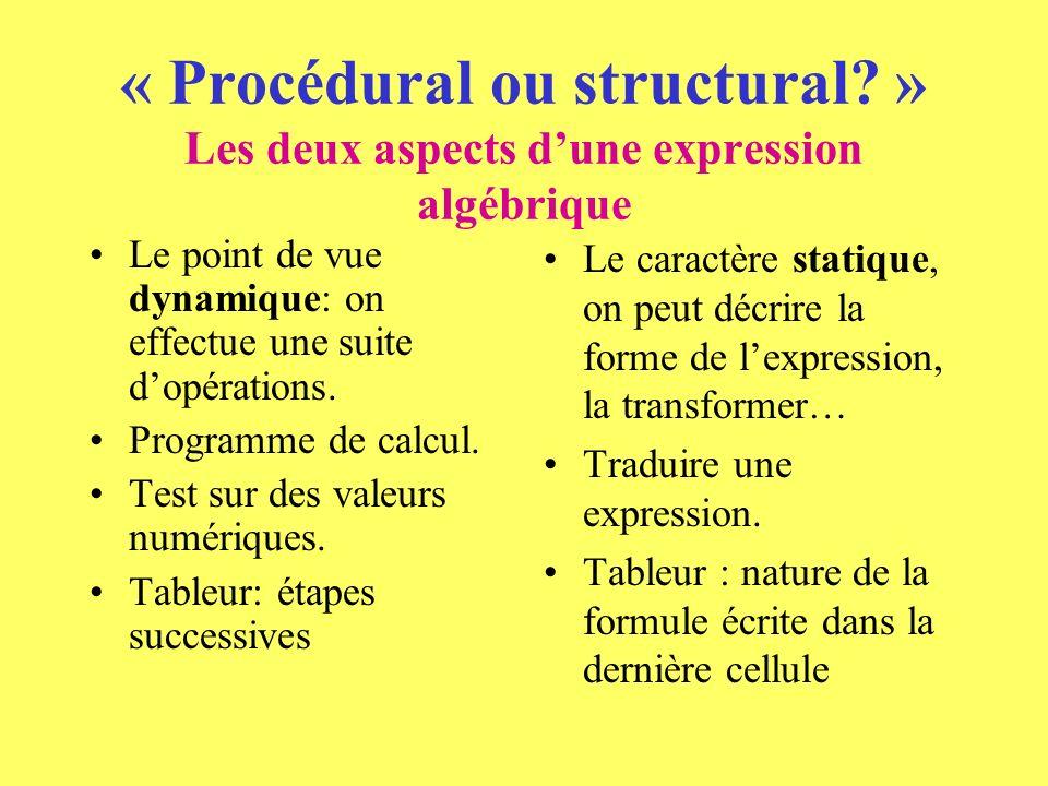 « Procédural ou structural