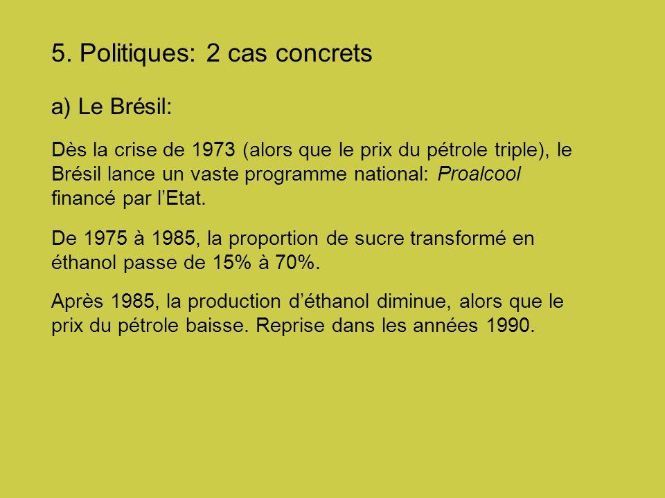 5. Politiques: 2 cas concrets