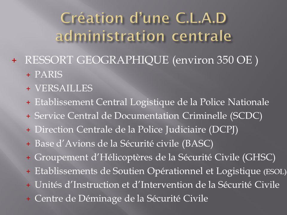 Création d'une C.L.A.D administration centrale