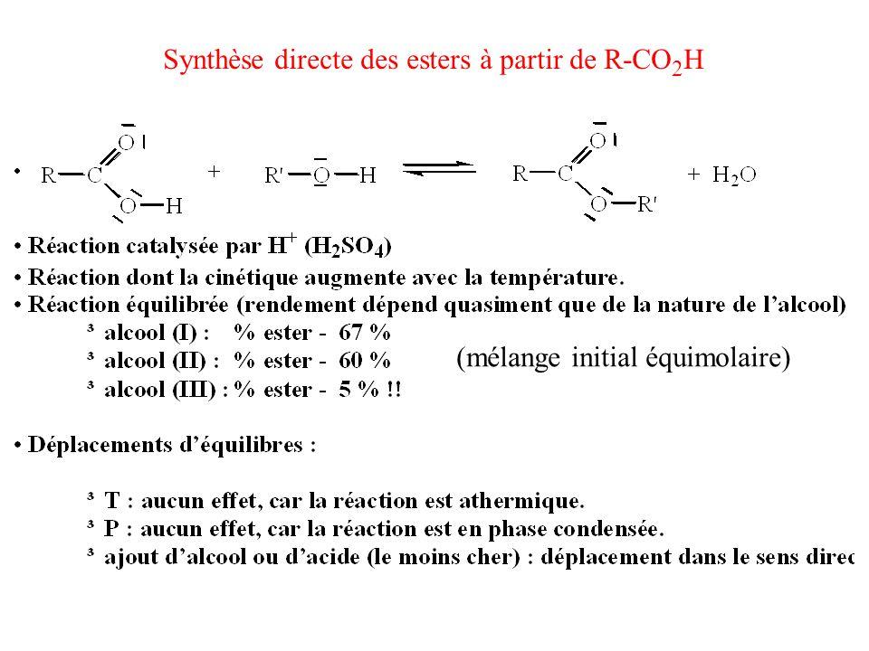 Synthèse directe des esters à partir de R-CO2H