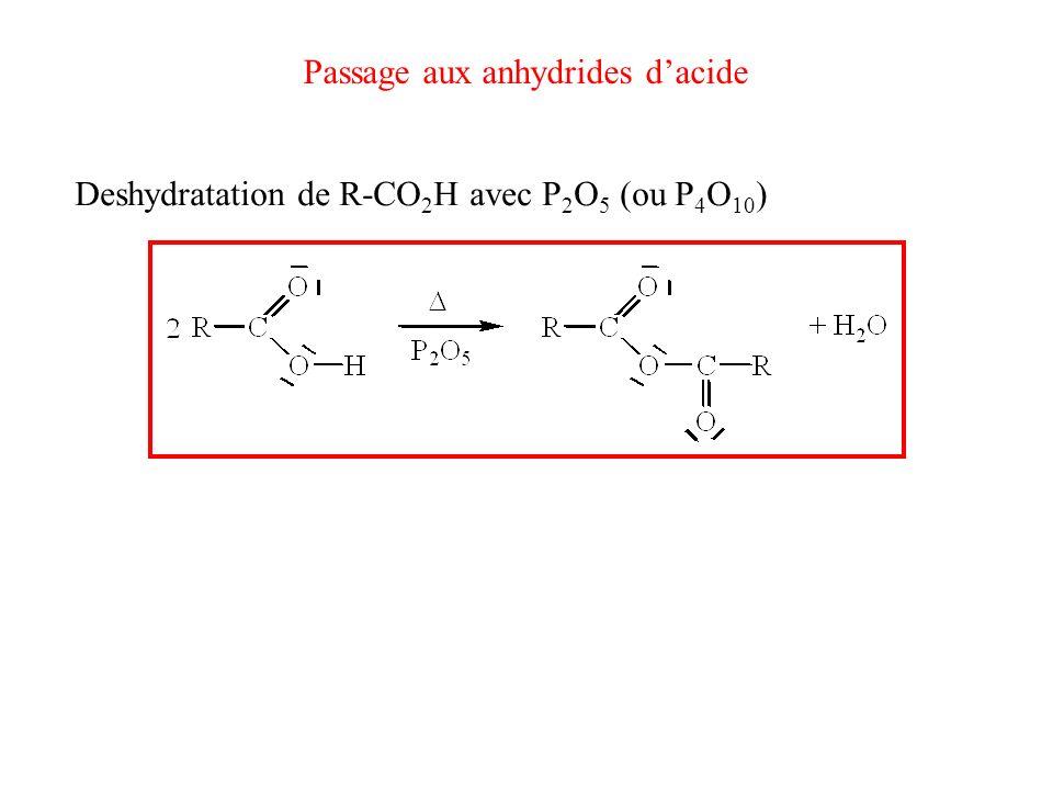 Passage aux anhydrides d'acide