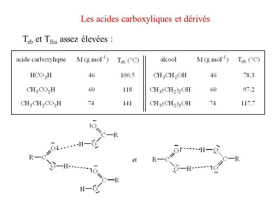 Les acides carboxyliques et dérivés