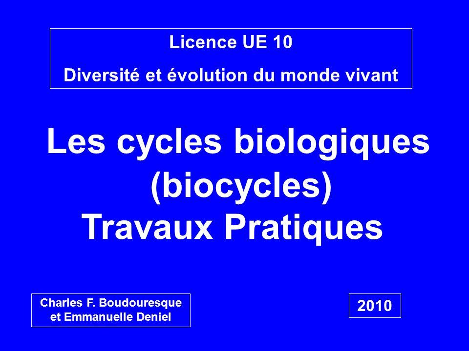 Les cycles biologiques (biocycles)