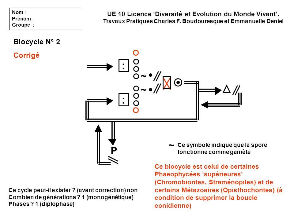: : ~ ~ ~ P Biocycle N° 2 Corrigé