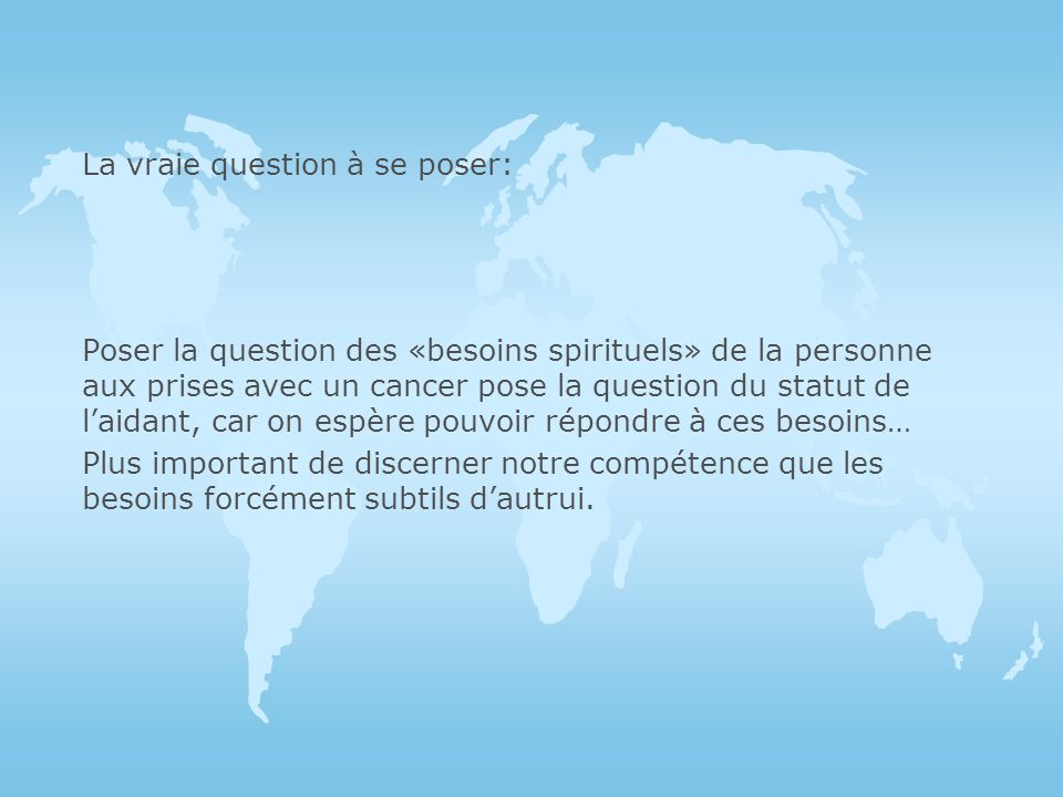 La vraie question à se poser: