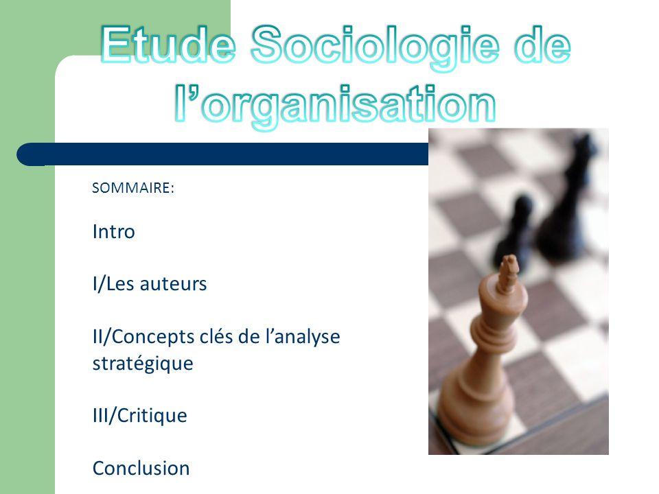Etude Sociologie de l'organisation