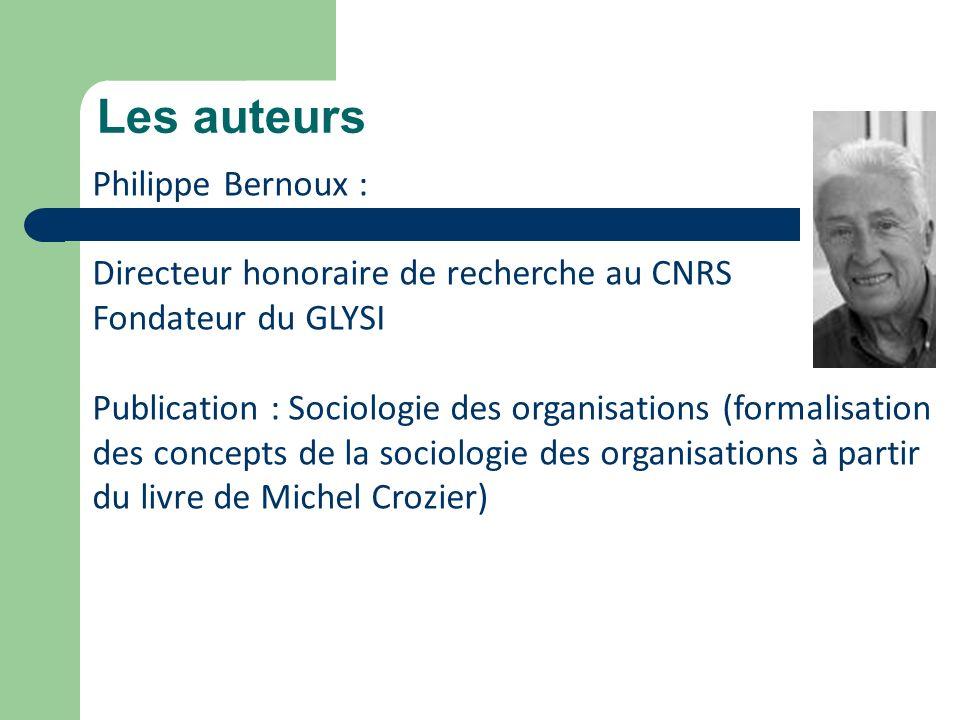 Les auteurs Philippe Bernoux :