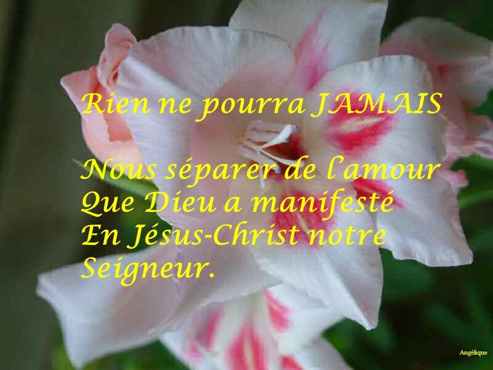 Nous séparer de l'amour Que Dieu a manifesté En Jésus-Christ notre