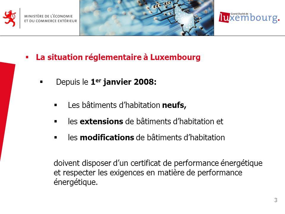 La situation réglementaire à Luxembourg