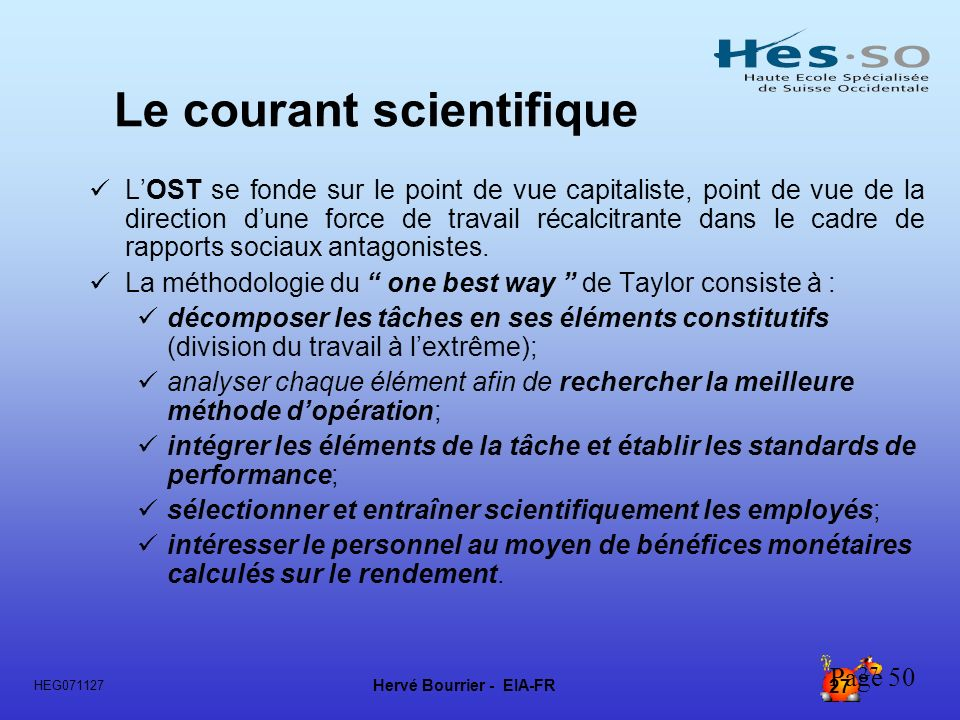 Le courant scientifique