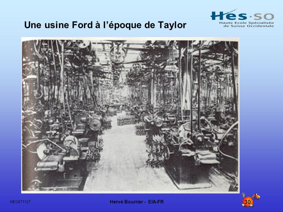Une usine Ford à l'époque de Taylor