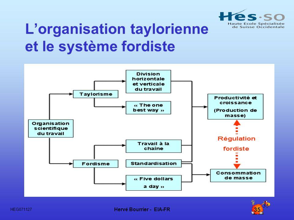 L'organisation taylorienne et le système fordiste