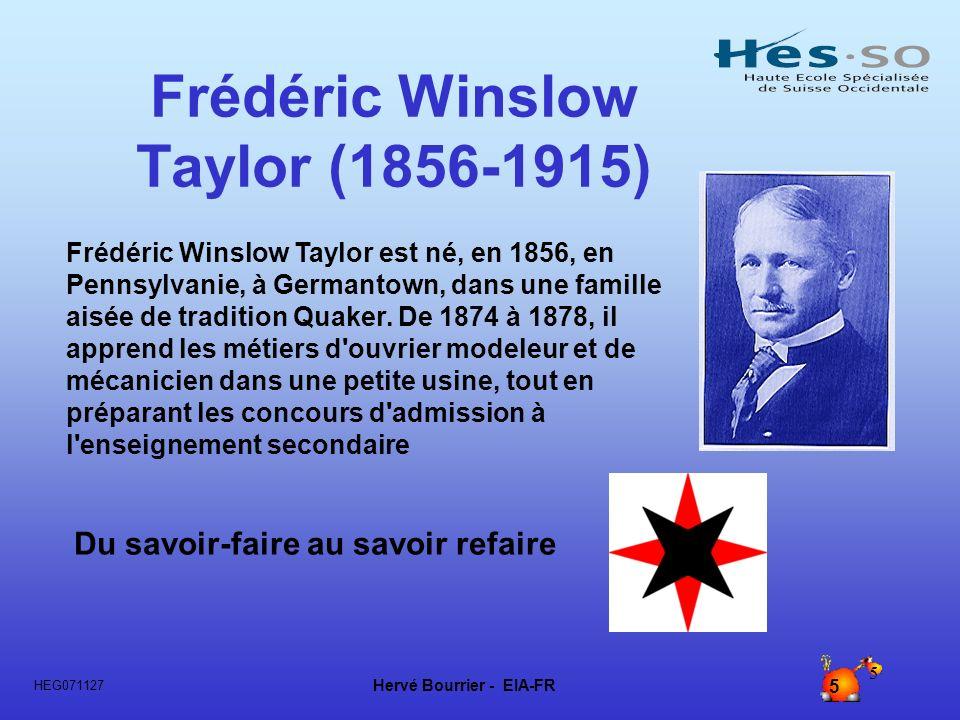 Frédéric Winslow Taylor (1856-1915)