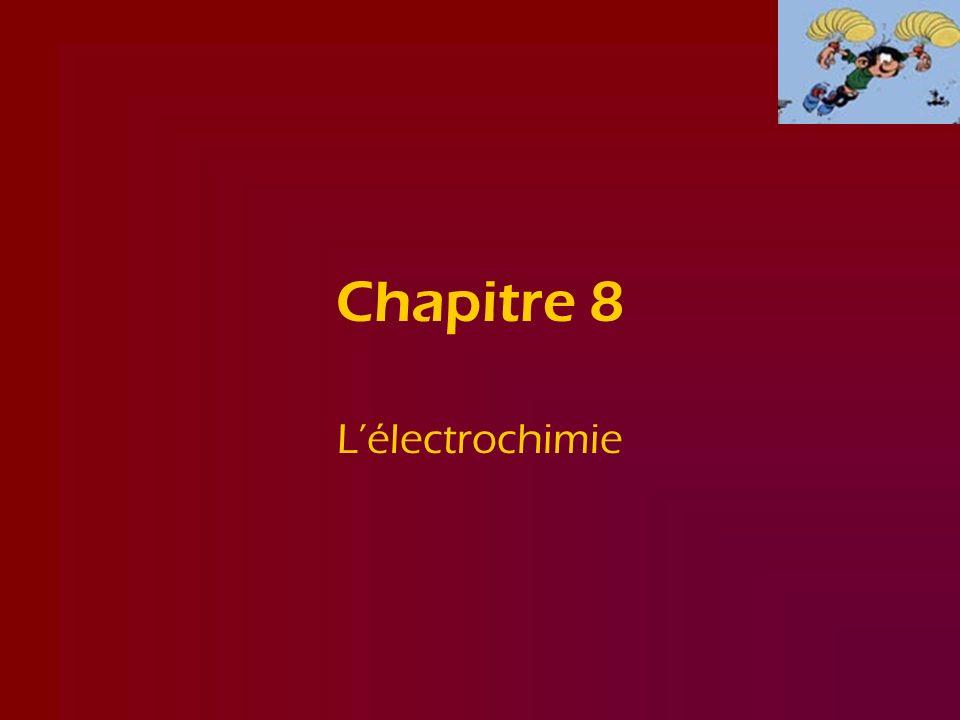 Chapitre 8 L'électrochimie