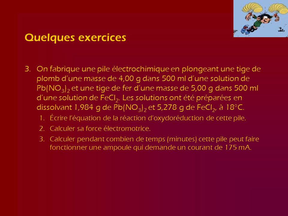 Quelques exercices