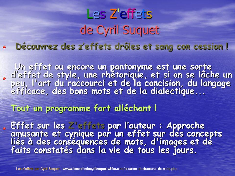Les Z effets de Cyril Suquet