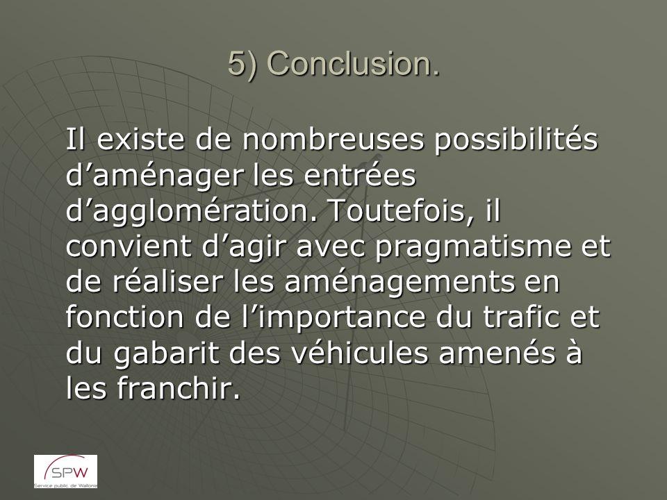 5) Conclusion.