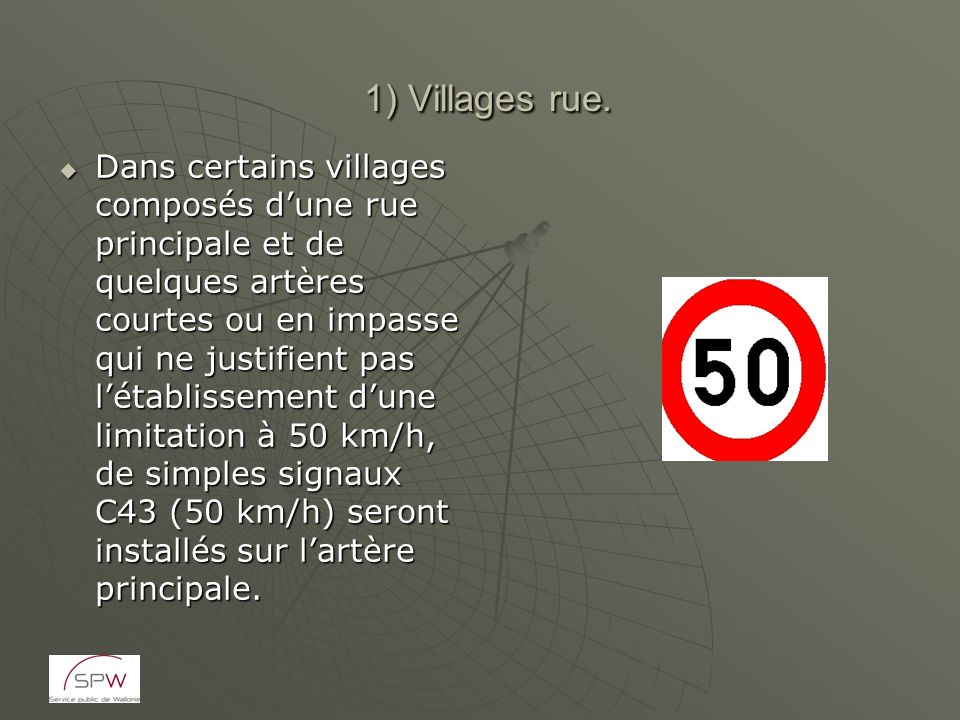 1) Villages rue.