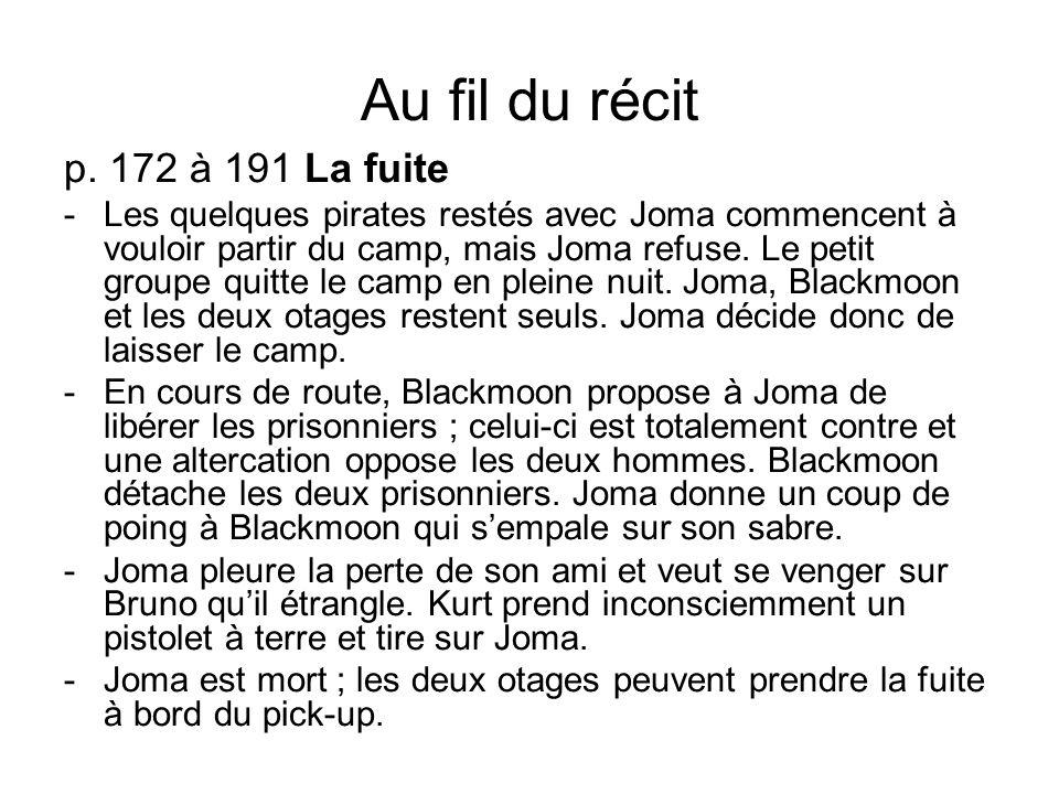 Au fil du récit p. 172 à 191 La fuite