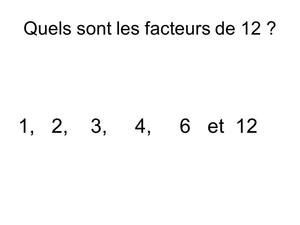 Quels sont les facteurs de 12
