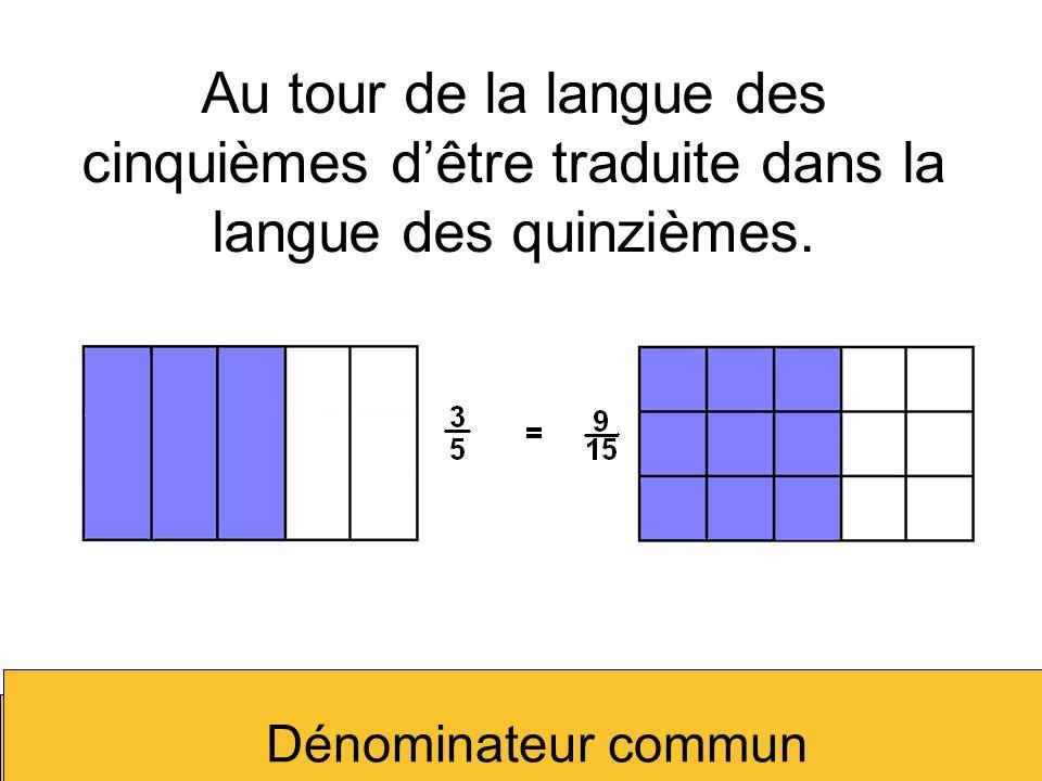 Au tour de la langue des cinquièmes d'être traduite dans la langue des quinzièmes.