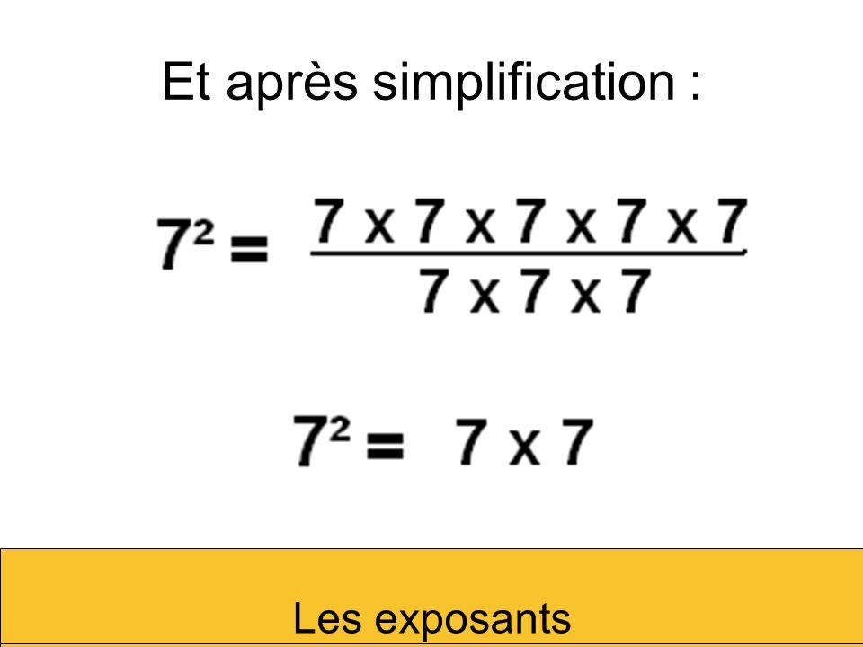 Et après simplification :