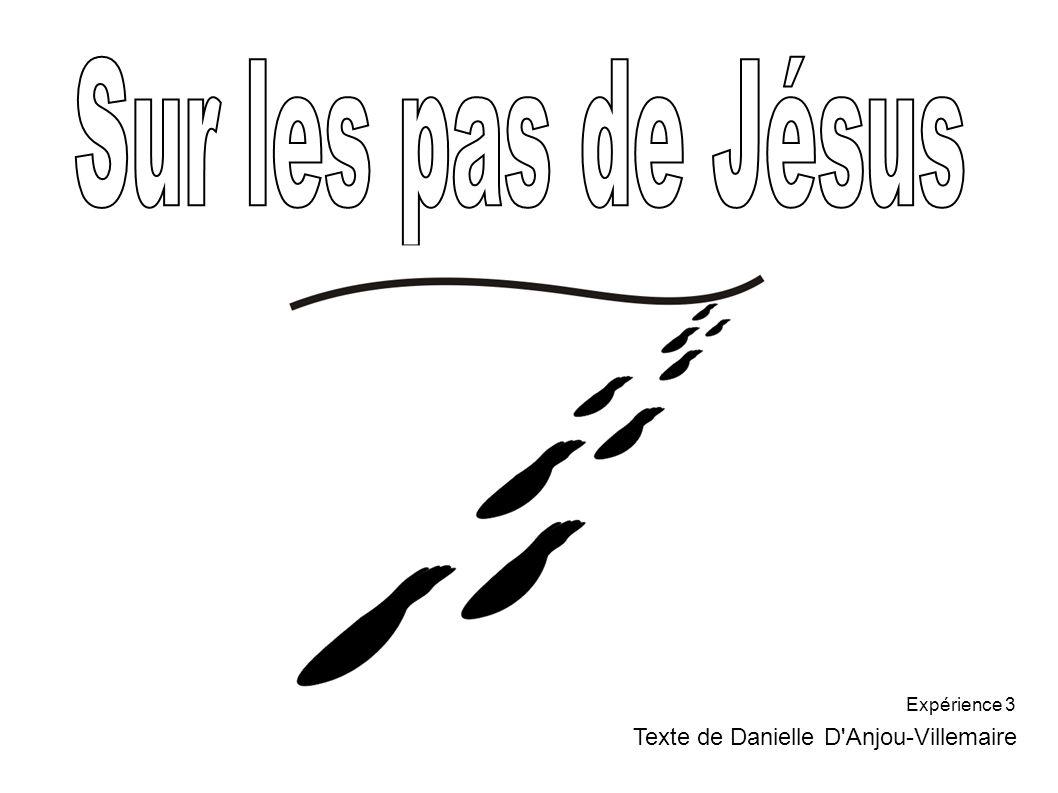 Sur les pas de Jésus Expérience 3 Texte de Danielle D Anjou-Villemaire