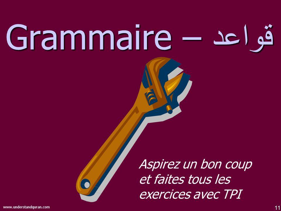 قواعد – Grammaire Make sure everyone takes one or two deep breaths before they continue with Grammar!
